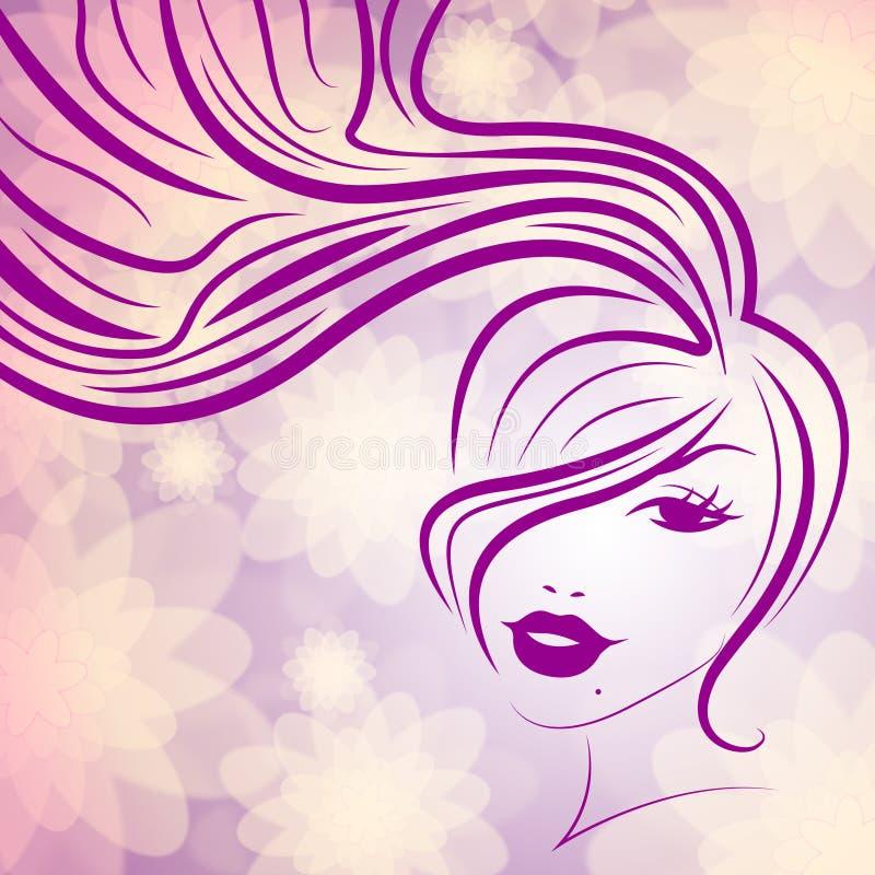 Kobiety menchia I Atrakcyjny Reprezentujemy Twarzową opiekę ilustracja wektor