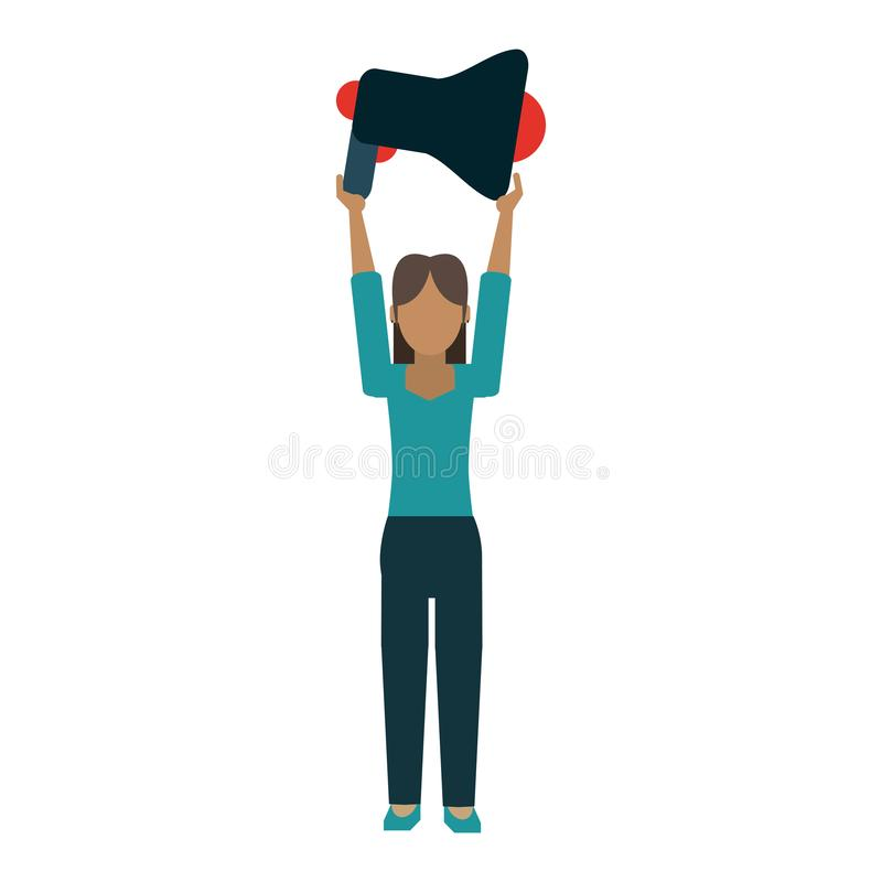 Kobiety mienia megafon ilustracja wektor