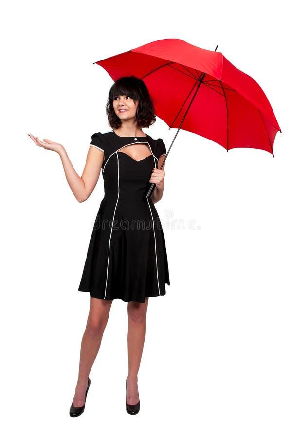 Kobiety mienia parasol obrazy royalty free