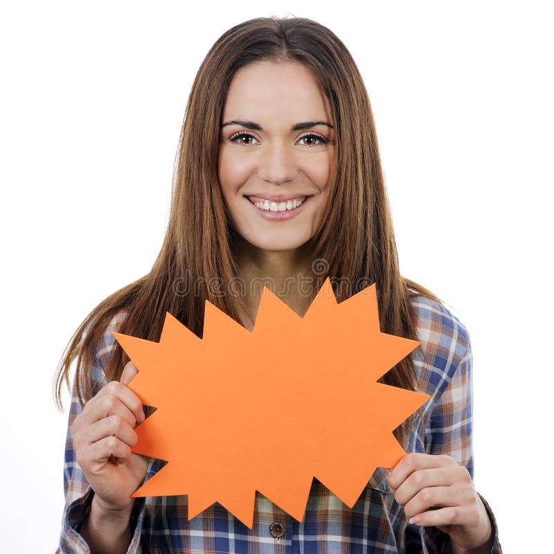 Download Kobiety Mienia Pomarańczowy Panel Zdjęcie Stock - Obraz złożonej z mienie, pokaz: 28955674