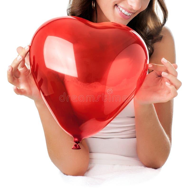 Kobiety mienia serce zdjęcie royalty free