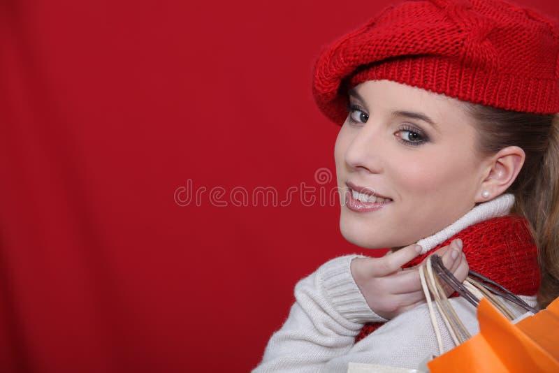 Kobiety mienia torba na zakupy zdjęcie stock