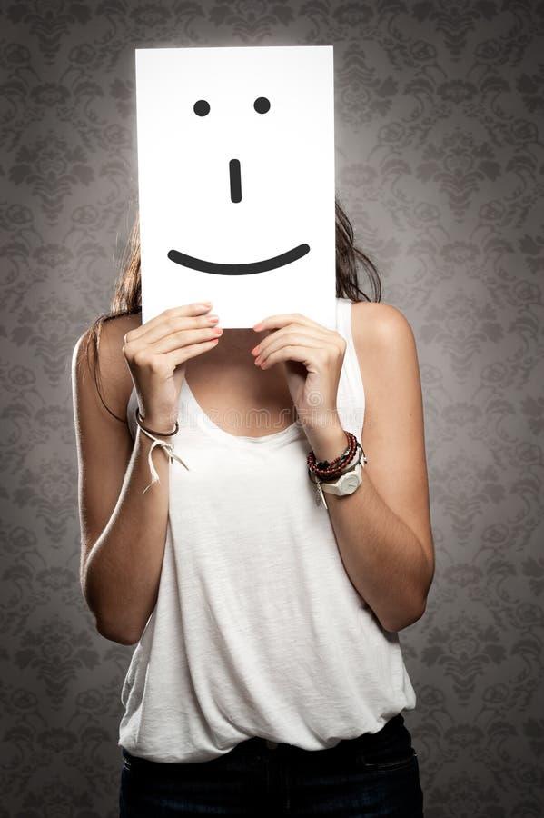 Kobiety mienia uśmiechu symbol obraz royalty free