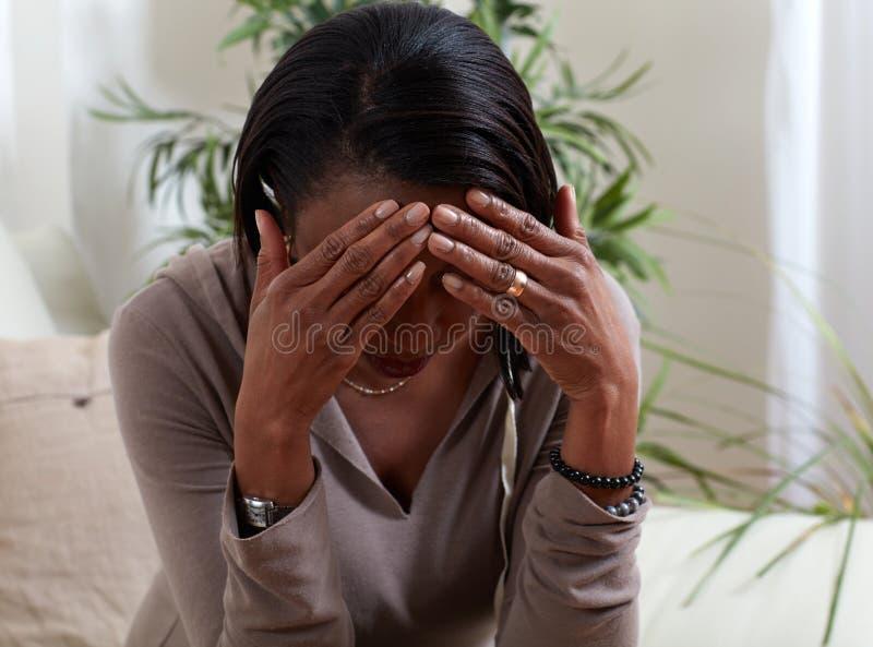 Kobiety migrain zdjęcie stock