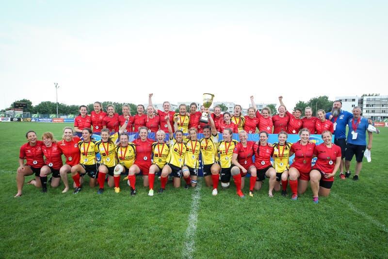 Kobiety mistrzostwa Europejski rugby 7 obrazy royalty free