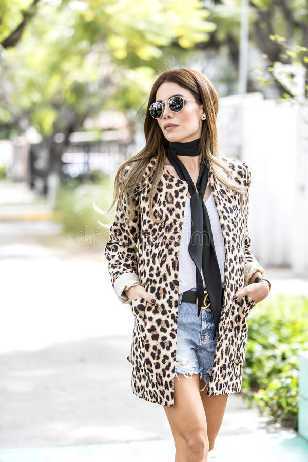 Kobiety moda outdoors obrazy royalty free