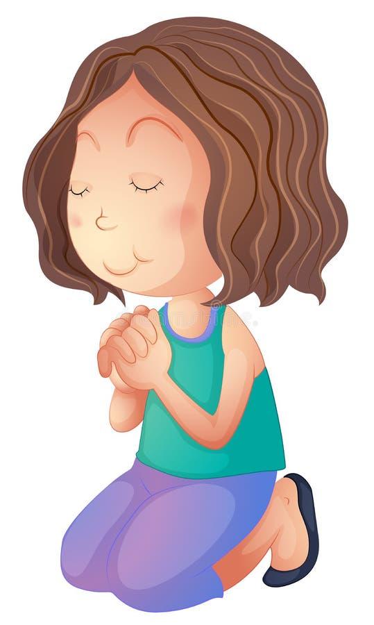 Kobiety modlenie ilustracji