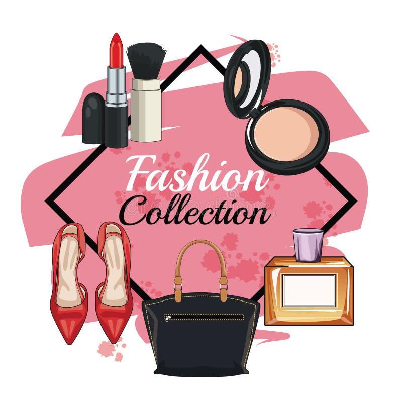 Kobiety mody akcesoria i uzupełniali ilustracji