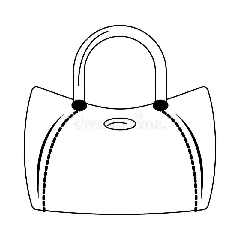 Kobiety mody torby accesorie kresk?wka odizolowywaj?ca w czarny i bia?y ilustracji