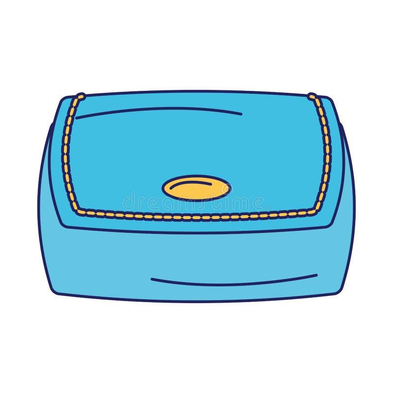 Kobiety mody torby accesorie kresk?wki odosobnione niebieskie linie royalty ilustracja