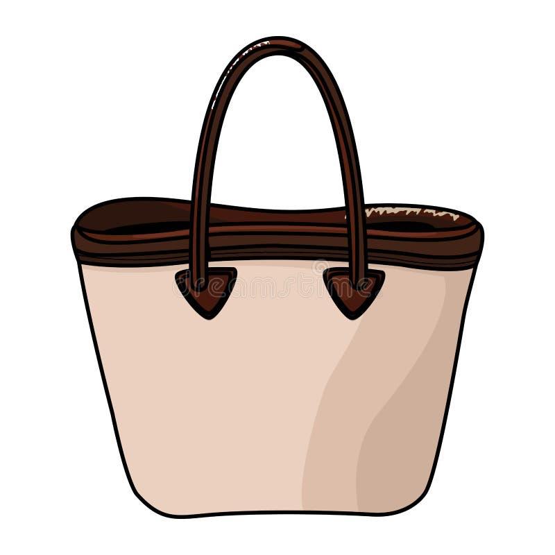 Kobiety mody torby accesory kreskówka ilustracja wektor