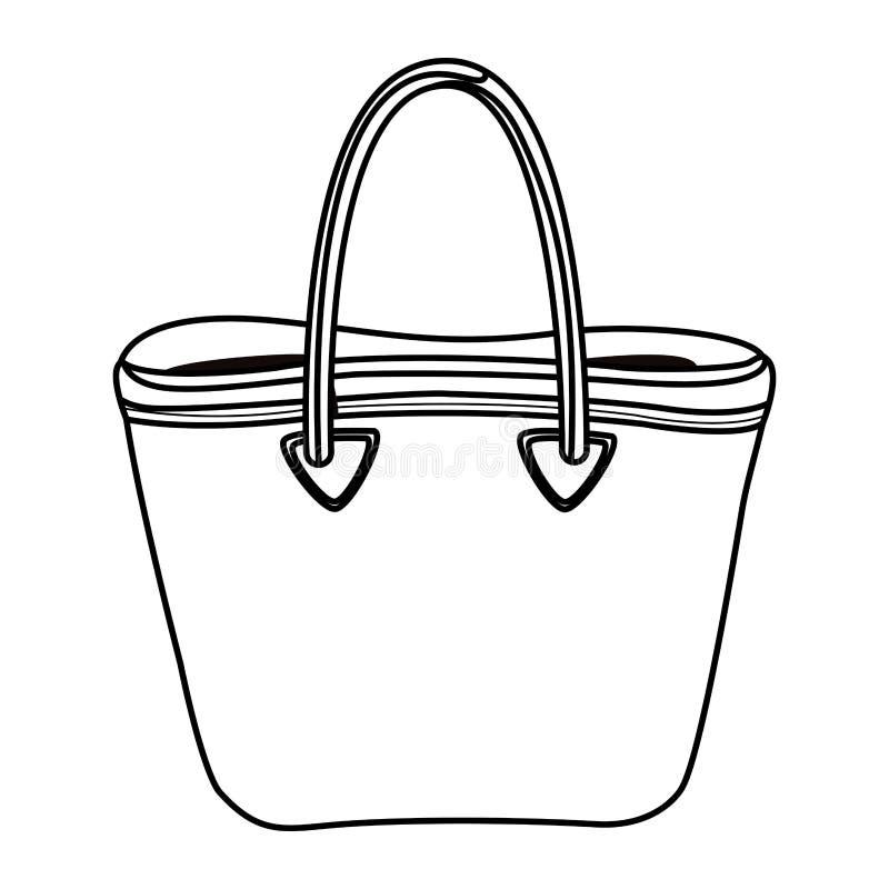 Kobiety mody torby accesory kreskówka w czarny i biały royalty ilustracja