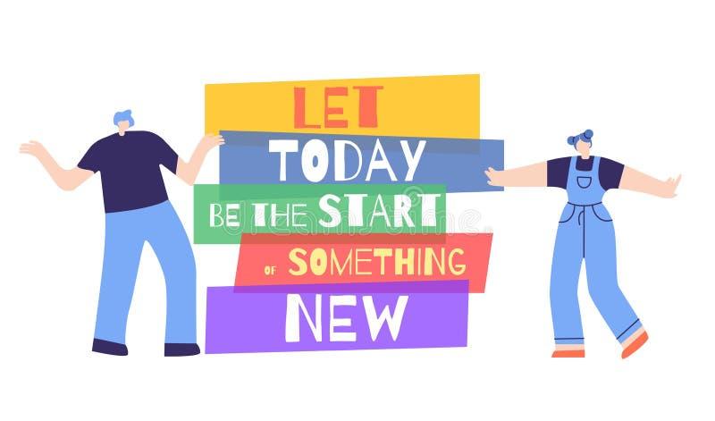 Kobiety motywacji początek Dzisiaj Coś Nowy plakat ilustracji