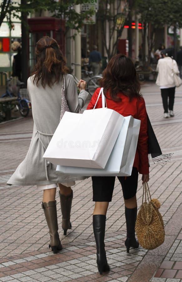 kobiety na zakupy fotografia stock