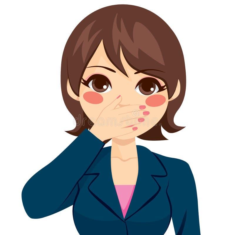 Kobiety Nakrywkowy usta ilustracji