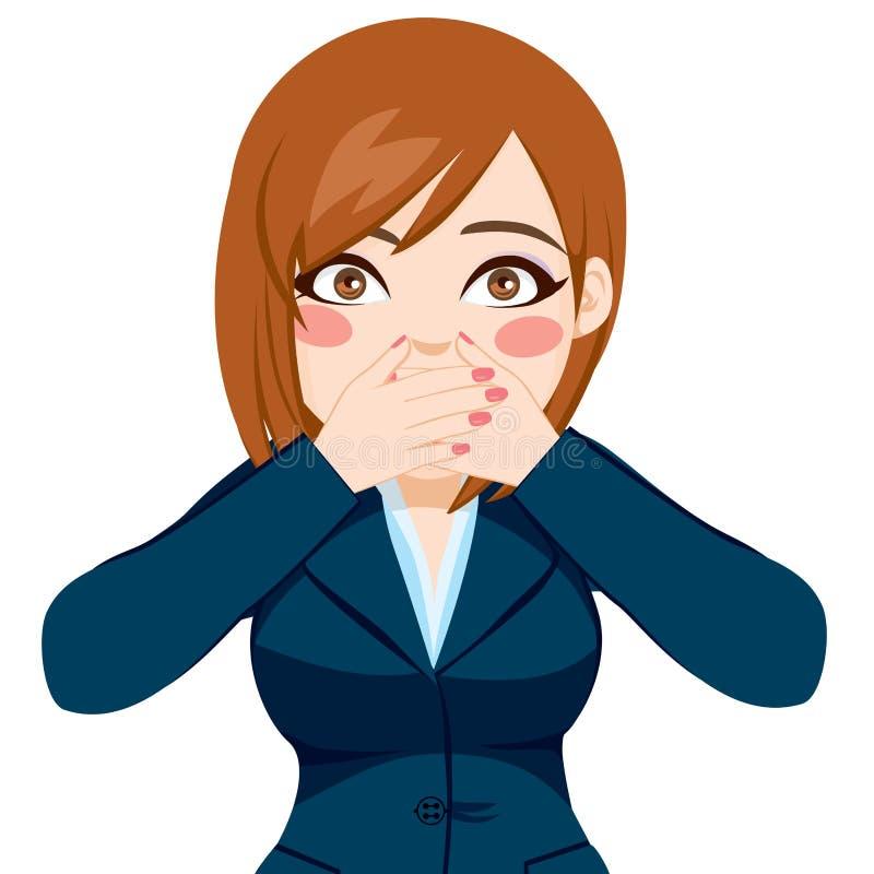 Kobiety Nakrywkowy usta Z rękami royalty ilustracja