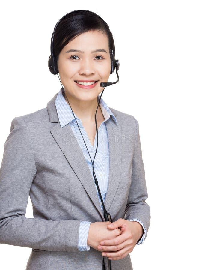 Kobiety obsługi klienta pracownik obrazy royalty free