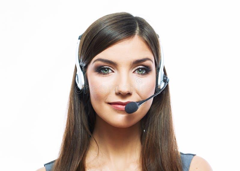 Kobiety obsługi klienta pracownik, centrum telefoniczne operatora uśmiechnięci wi fotografia royalty free
