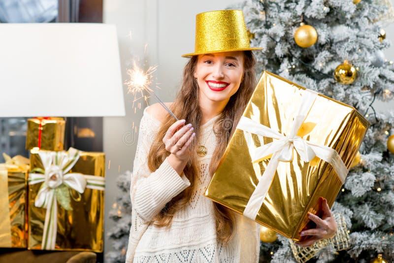 Kobiety odświętności zimy wakacje obrazy royalty free