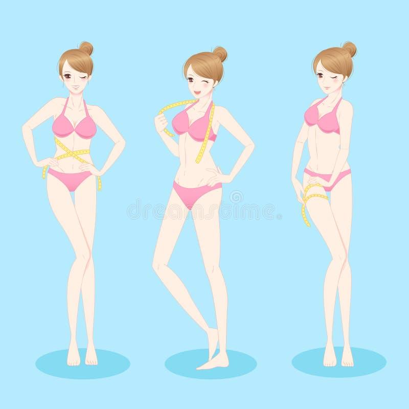 Kobiety odzieży bikini royalty ilustracja