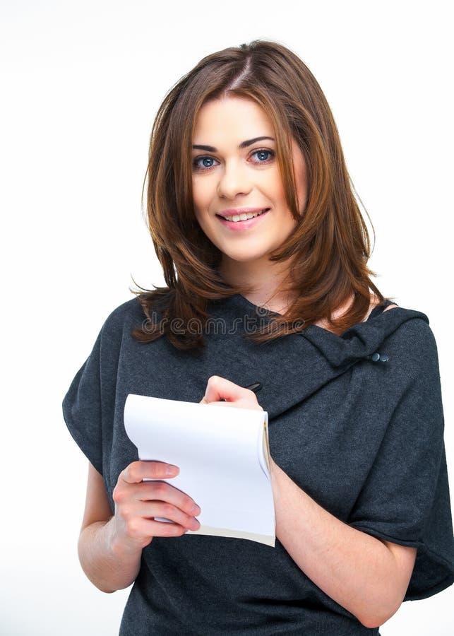 Kobiety ofice pracownik robi liście zdjęcie royalty free