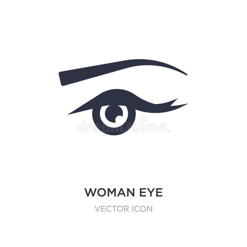 kobiety oka ikona na białym tle Prosta element ilustracja od piękna pojęcia ilustracji