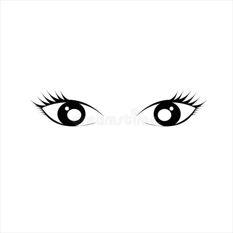 Kobiety oka, oko bielu tło/ zdjęcie stock