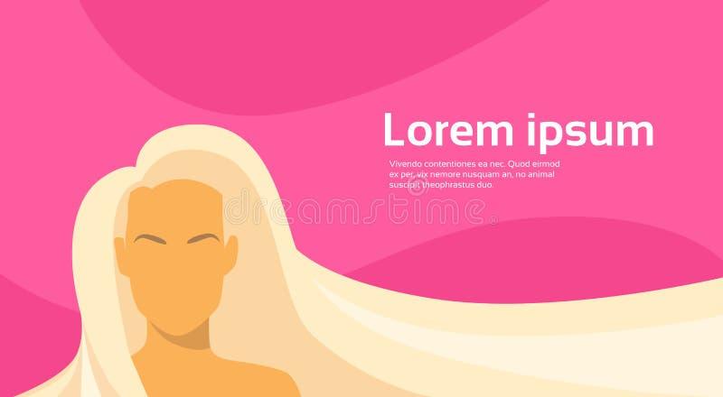 Kobiety piękna Blond Długie Włosy sylwetka ilustracja wektor