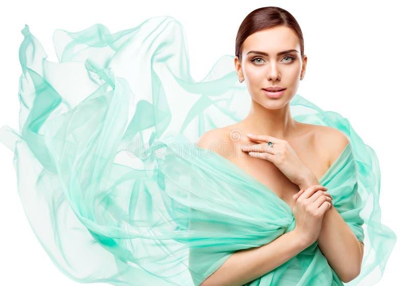 Kobiety piękna Makeup, moda modela twarz Uzupełniał, Piękna dziewczyna zdjęcie stock
