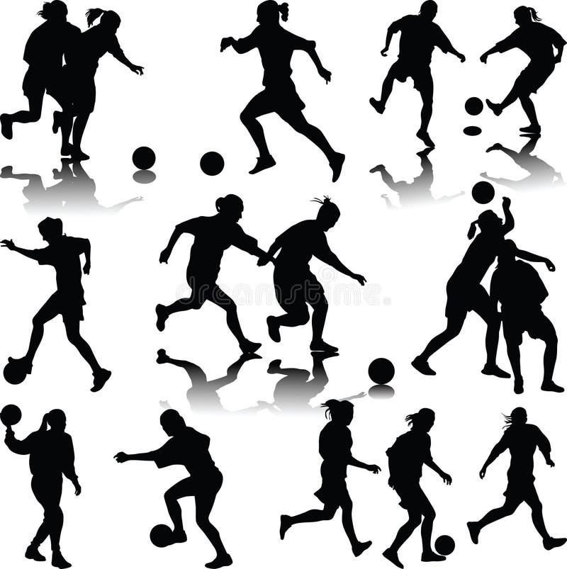 Kobiety piłka nożna ilustracja wektor