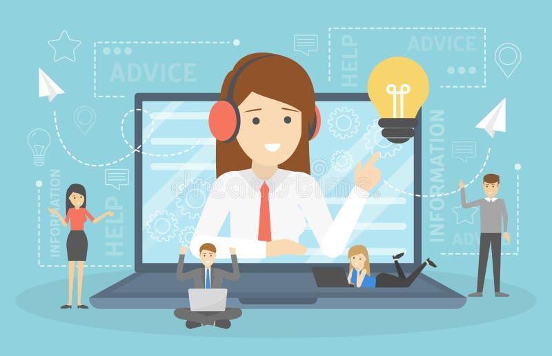 Kobiety poparcia klienci i pomagają one z problemami ilustracja wektor