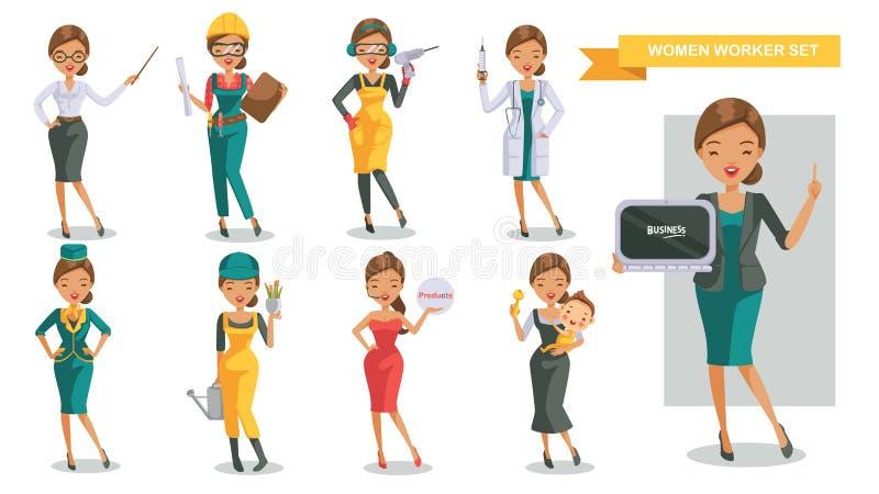Kobiety praca ilustracji