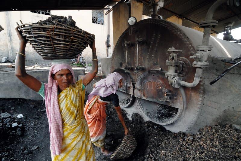 Kobiety praca w India fotografia stock
