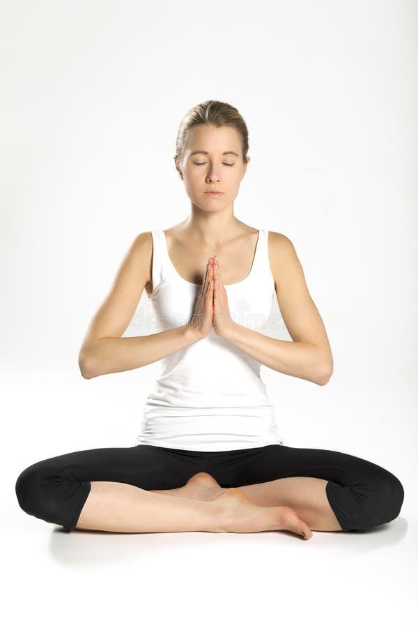 Kobiety praktyki joga 08 zdjęcia royalty free