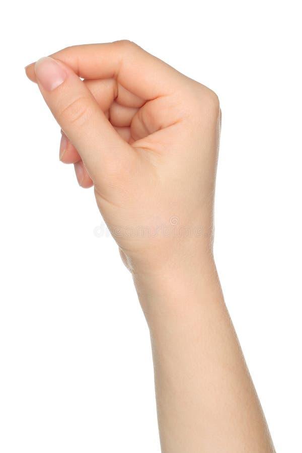 Kobiety ręka jak chwyta ładunku karta obrazy royalty free