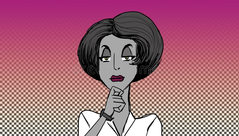 Kobiety słuchanie royalty ilustracja
