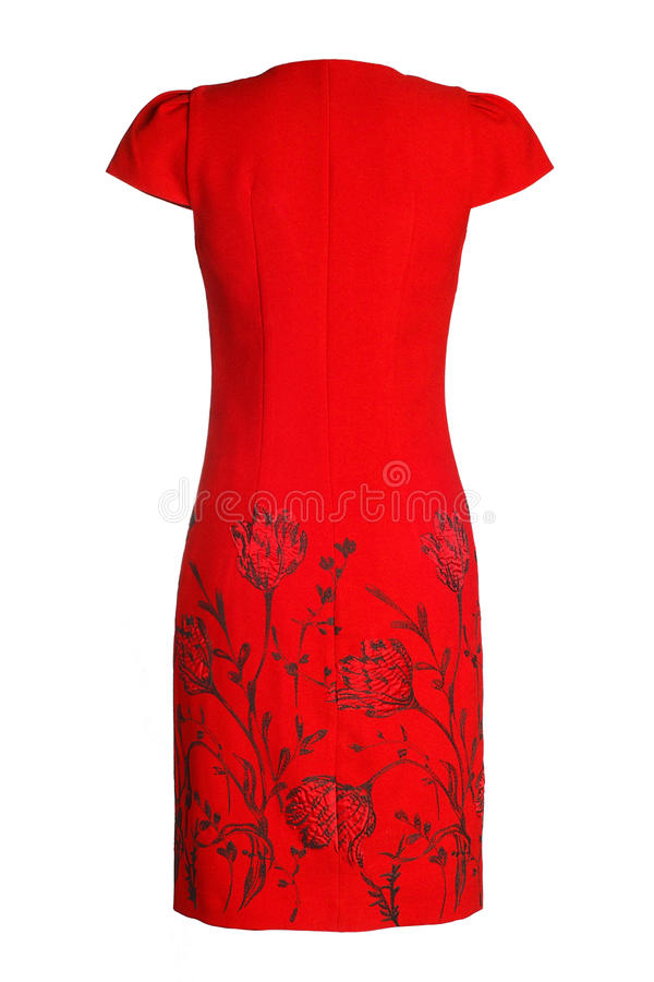 Kobiety ` s czerwieni suknia zdjęcie royalty free