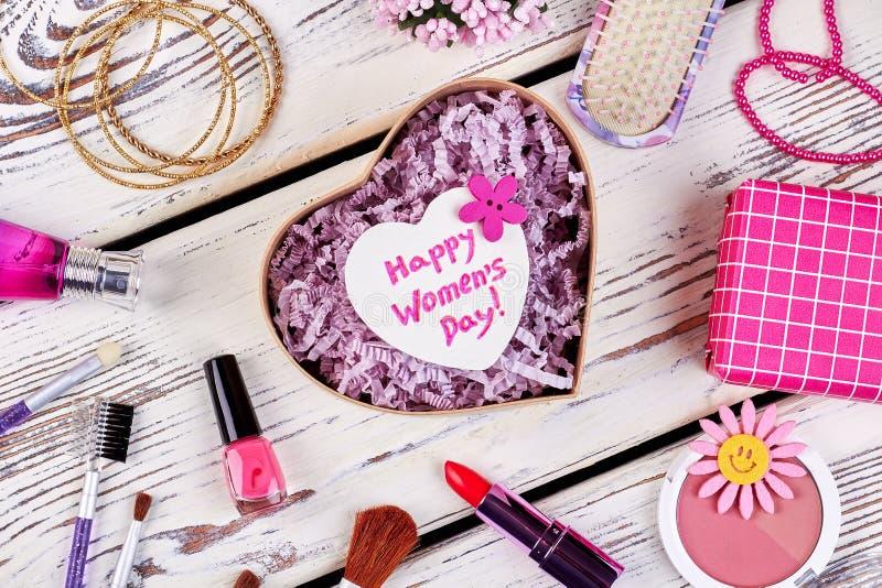 Kobiety ` s dnia kartka z pozdrowieniami fotografia stock