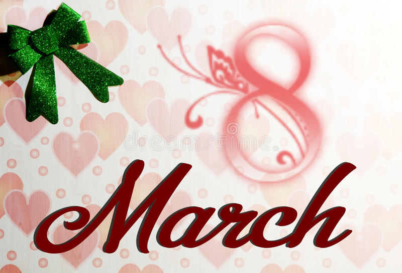 Kobiety ` s dzień 8 Marzec obraz royalty free