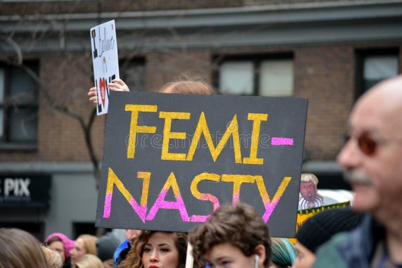 Kobiety ` s marsz zdjęcia royalty free