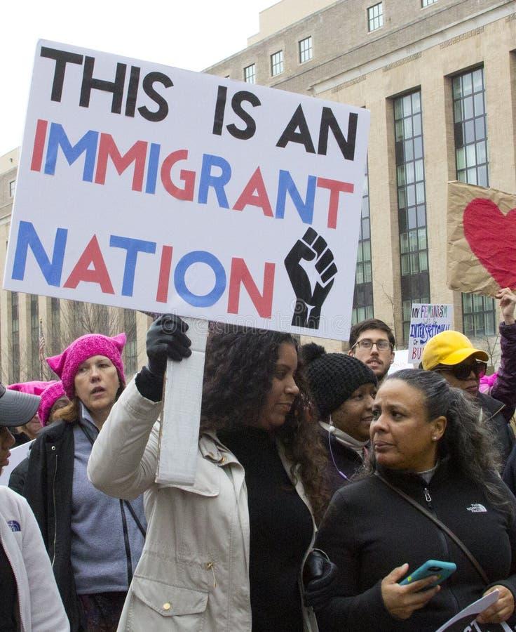 Kobiety ` s Marzec na Waszyngton zdjęcie royalty free