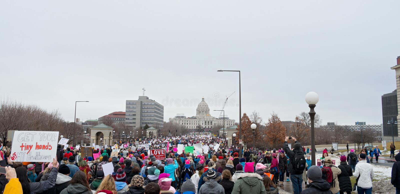 Kobiety ` s Marzec W kierunku Capitol zdjęcie stock