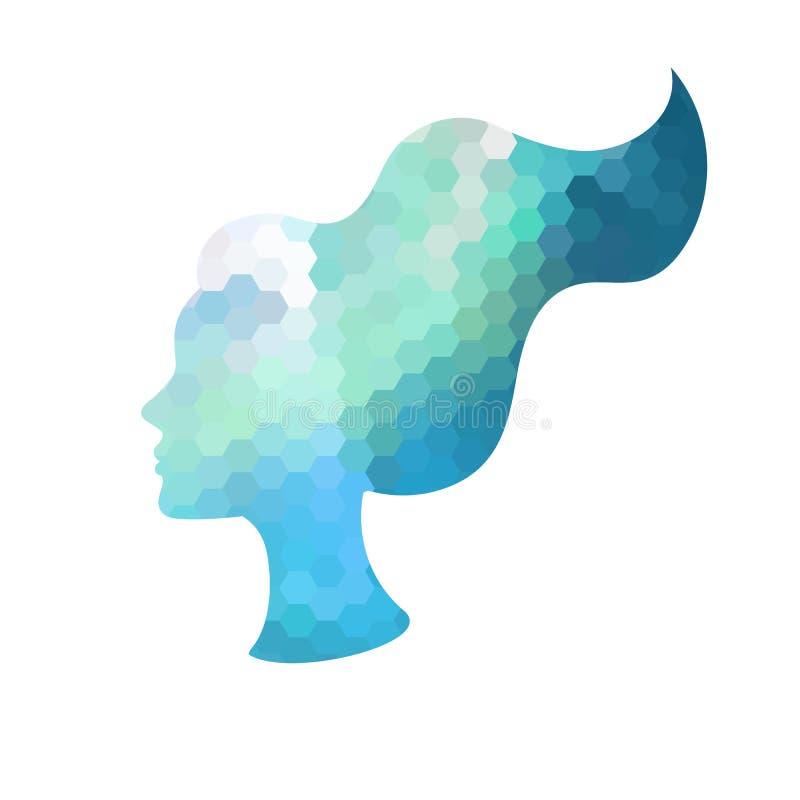 Kobiety ` s twarzy loga projekta szablon royalty ilustracja