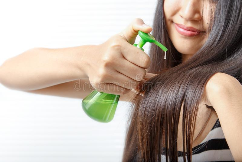 Kobiety ` s włosy zdrowie zdjęcie stock
