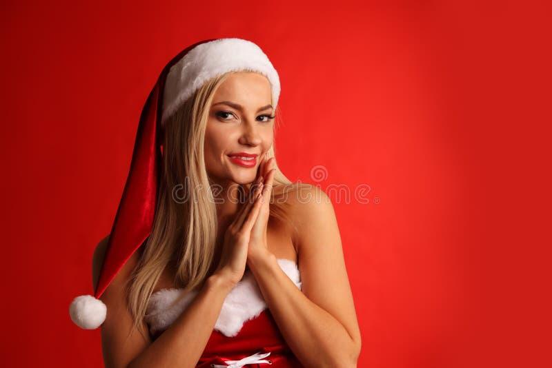 Kobiety Santa Claus kostium obraz royalty free