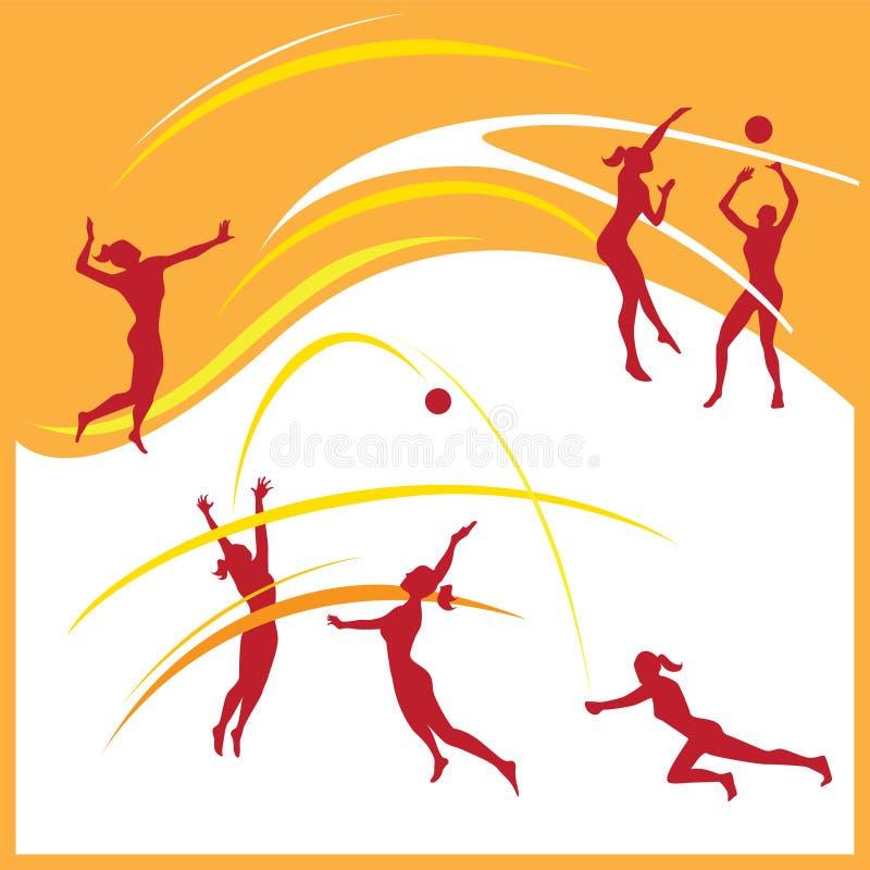 Kobiety siatkówki wektor royalty ilustracja