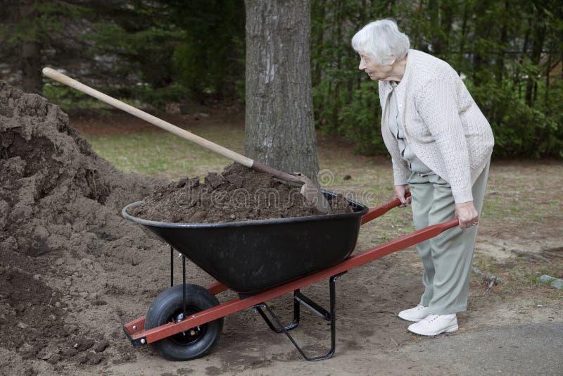 kobiety starszy działanie fotografia stock