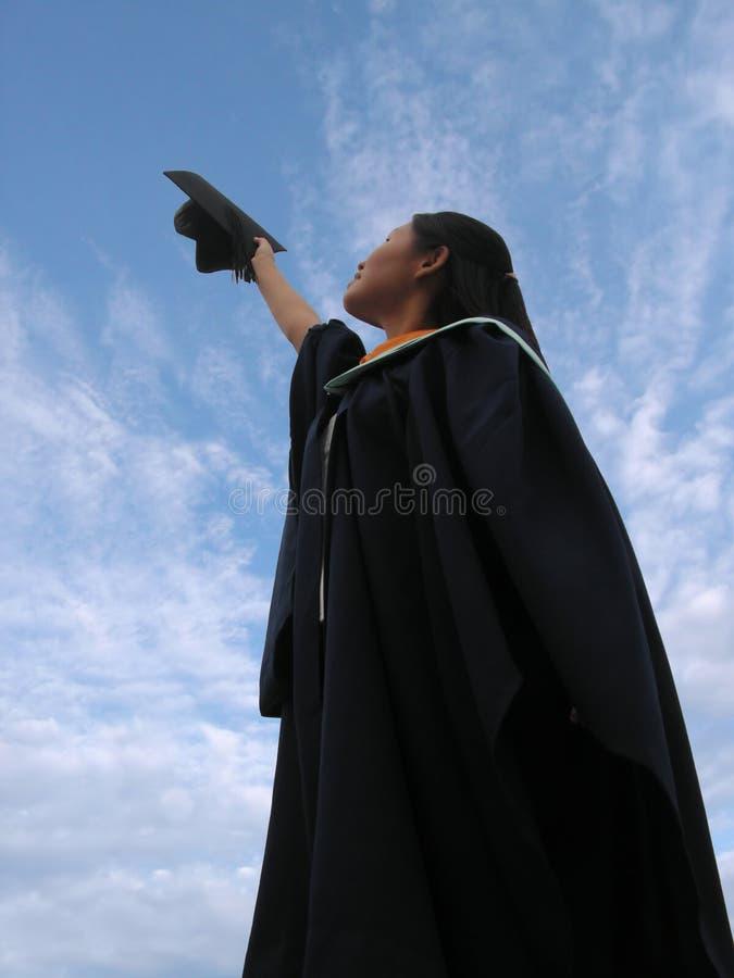 kobiety sukcesu magisterski zdjęcia stock