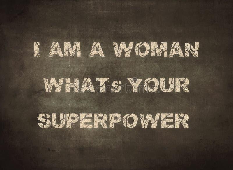 Kobiety supermocarstwa szacuneku dziewczyny ?e?ski letterpress zdjęcie royalty free