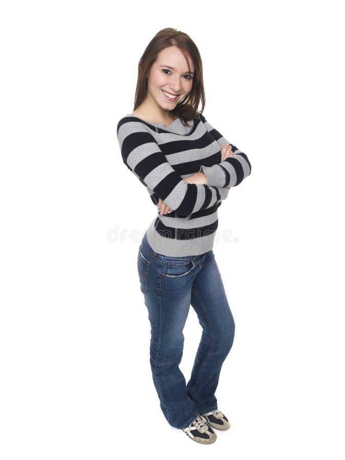 Kobiety - szczęśliwy student collegu zdjęcia stock